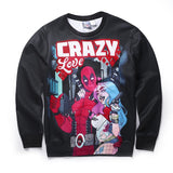 Deadpool and Harley Quinn 3D Sweatshirt