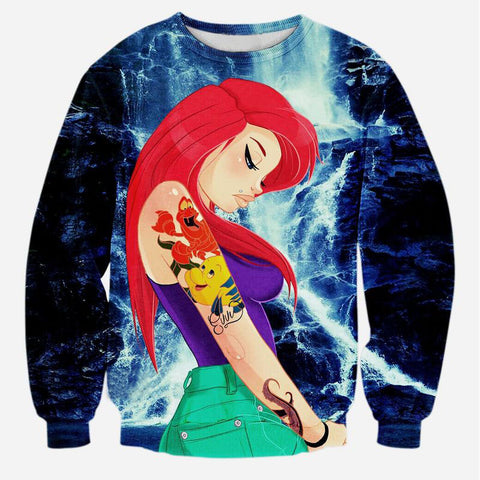 Cute Mermaid Sweatshirt For women/men