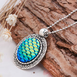 Little Mermaid Cabochon Fish Pendant Necklace