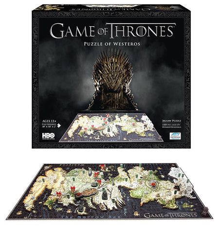 Game of Thrones Puzzle Map of the Westeros 3D