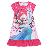 Flounced Summer Dresses Princess For Baby Girls