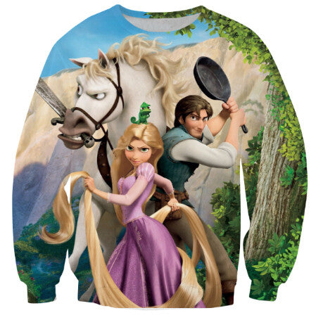 Tangled Princess cartoon sweatshirt 3d print