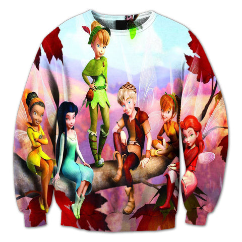 Tinker bell and friends 3D Crewneck Sweatshirts