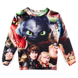 3D How to Train Your Dragon Sweatshirt Women