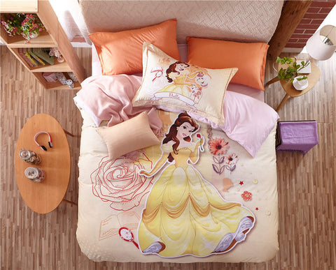 Beauty and the Beast Belle 3D Printed Bedding Sets for Girls Bedroom