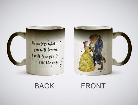 Beauty and The Beast Colour Change Coffee Mugs