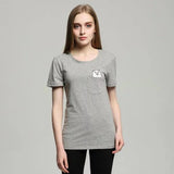 Funny Pocket Cat T-shirt for Ladies