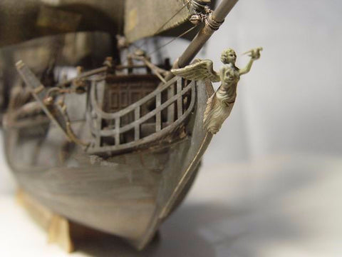 The Black Pearl Ship Boat Wooden Scale 3d