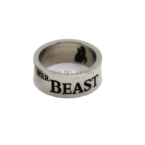 "Beauty and The Beast Ring Set ""His Beauty & Her Beast"""