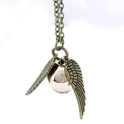 Harry Potter Necklace Vintage Style Angel Wing Charm