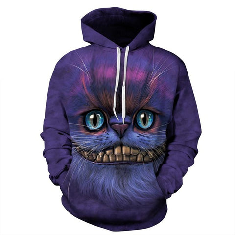 3D Hoodie Printed Cheshire Cat