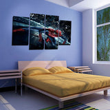 4 Panels Canvas Spider Man Art Painting