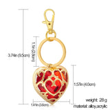The Legend of Zelda Figure Necklace & Keychain Heart Crystal Pendant