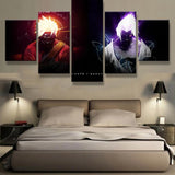 5 Panels Canvas Painting Naruto and Sasuke