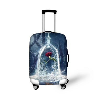 Beauty and the Beast Elastic Dust-proof Cover for Suitcase