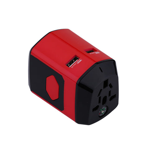 Electrical Socket European/American/Australia/UK Plugs Adaptors All in One International Travel Adapter with USB Charger