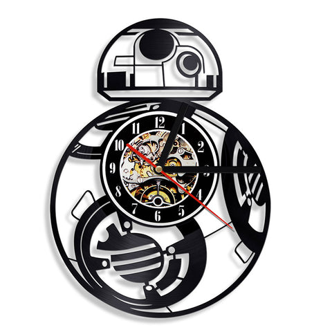 BB-8, Airplane, Millennium Falcon Vinyl Record Wall Clock