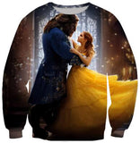 Beauty and the Beast 3D Printing Sweatshirt