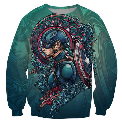 Captain America And Iron 3D Printing Sweatshirt