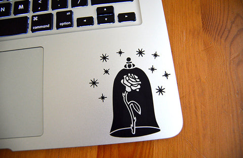 Beauty and the Beast Car, Laptop Sticker