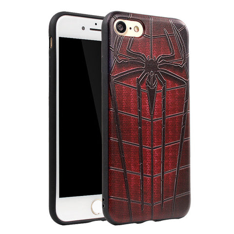 Spider Man, Captain America, Iron Man Silicone Phone Case for iPhone