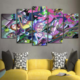 5 Pieces HD Printed Rick And Morty Painting Canvas