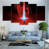 "5 Panels HD Printed Star Wars ""The Last Jedi"" Painting Canvas"