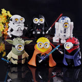 (6pcs/lot) Minion Star Wars Miniature Figurines Toys