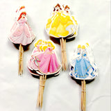 24pcs/lot 4 Species Princess Cupcake Toppers