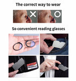 Wallet Reading Glasses with Case, Nose Resting Reading Glasses