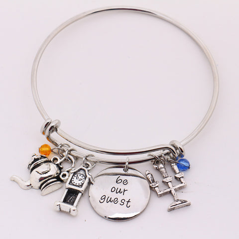 """Be Our Guest"" Pendant Bracelet"