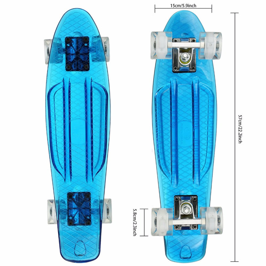 M3560 Crystal Clear Luminous Skateboard