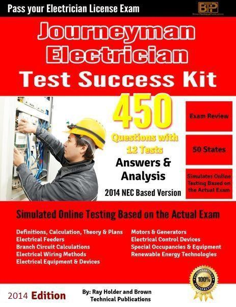2014 Journeyman's Electrician Licensing Online Tests