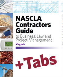 Virginia NASCLA Contractors Guide to Business, Law and Project Management, Virginia 8th Edition - Tabs Bundle