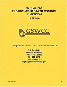Manual for Erosion and Sediment Control in Georgia, 2014, 6th edition