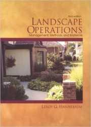Landscape Operations: Management, Methods and Materials, Third Edition, 1999