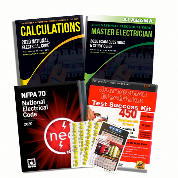 Alabama 2020 Complete Master Electrician Book Package