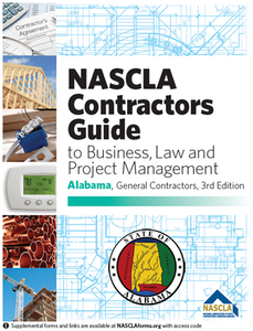 Alabama NASCLA Business, and Project Management for Contractors, General Contractors, 3rd Edition; Highlighted & Tabbed