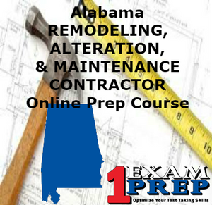 PSI Alabama Remodeling, Alteration, and Maintenance Contractor - Online Exam Prep Course