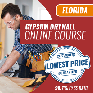 Florida Gypsum Contractor Trade Exam - Online Exam Prep Course