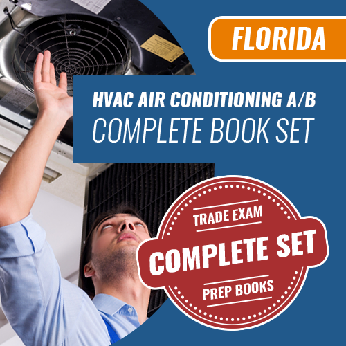 Florida Air A or Air B Contractors Exam Complete Book Set