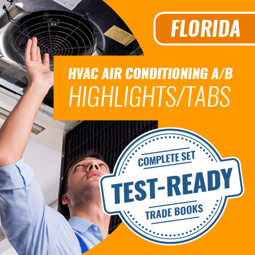 Florida Air A or Air B Contractor Exam Complete Book Set Highlighted and Tabbed
