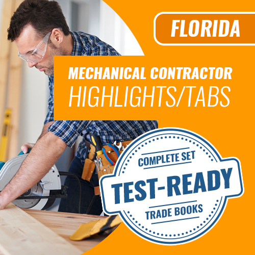 Florida Mechanical Contractor Exam Complete Book Set - Trade Books - Highlighted & Tabbed