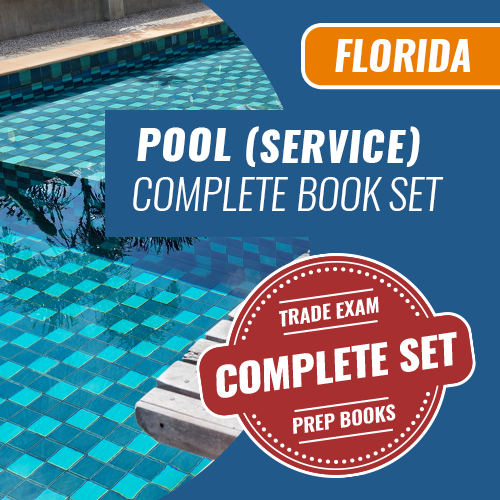 Florida Service Pool Contractor Exam Complete Book Set - Trade Books