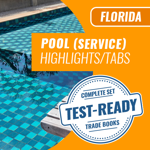Florida Service Pool Contractor Exam Complete Book Set - Trade Books - Highlighted & Tabbed