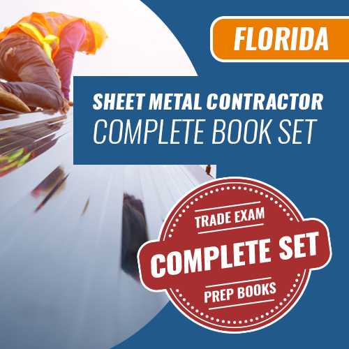 Florida State Sheet Metal Contractor Exam Complete Book Set - Trade Books