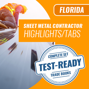 Florida State Sheet Metal Contractor Exam Complete Book Set - Trade Books - Highlighted and Tabbed