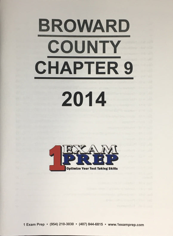 Broward County Code, Chapter 9 - Contractors, 2014
