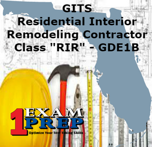 "GITS Residential Interior Remodeling Contractor - Class ""RIR"" - GDE1B"