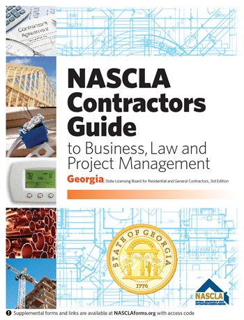 Georgia NASCLA Contractors Guide to Business, Law and Project Management, GA State Licensing Board for Residential and General Contractors 3rd Edition; Highlighted & Tabbed
